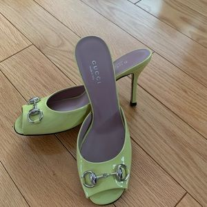 Gucci slides.  Very little wear.